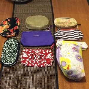 Lot of Nine (9) Cosmetic Bags ALL 9!!!